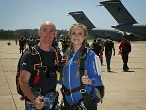 More than 200 skydive from RAAF aircraft
