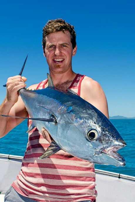 KIWI ANGLER: Kris Longman with a nice longtail tuna en route to becoming fresh sashimi.