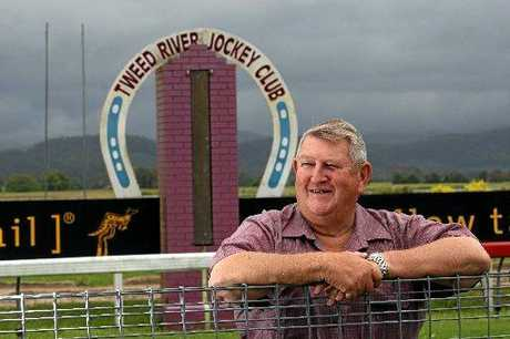 Bernie Quinn at his beloved Tweed River Jockey Club, which he has presided over for 43 years.