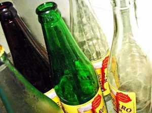 Beer bottle victim goes silent on attack