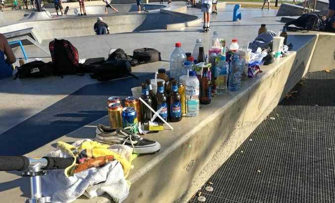 FILTH: Lowlifes have trashed the new Alex Skate Park.