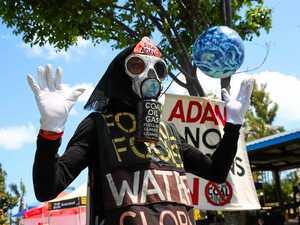 Anti-Adani performance artist turns heads in Airlie Beach