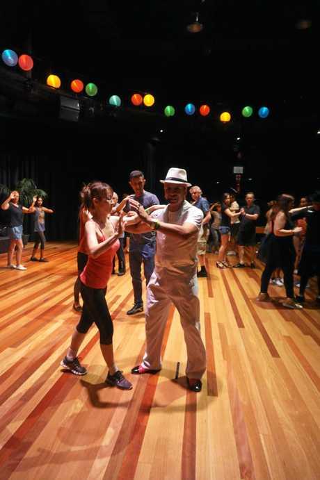 Dancers at the 12th annual Byron Latin Fiesta.