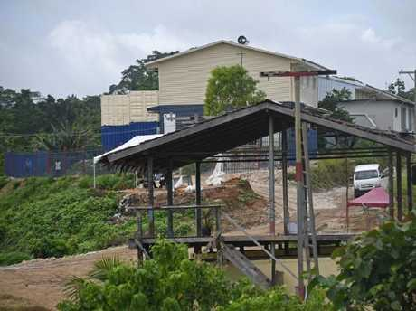 The Australian-funded asylum seeker transit centre just outside the Manus capital Lorengau. Picture: Brian Cassey