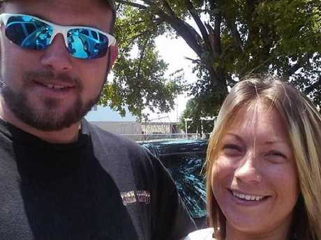 Jacob, pictured with his wife Sarah Nicole Henderson, was targeted as well but survived. Picture: Facebook