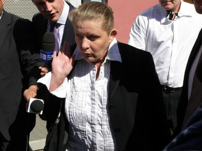 Gunn-Britt Ashfield, now known as Angelic Karstrom, walks from Dillwynia prison in western Sydney in 2011.