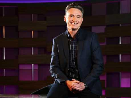 Dave Hughes on set of his new Channel Ten show Hughesy, We Have A Problem.