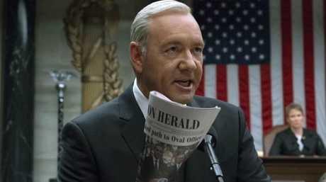 Netflix says it's suspending production on House of Cards following harassment allegations against Spacey. Picture: AP