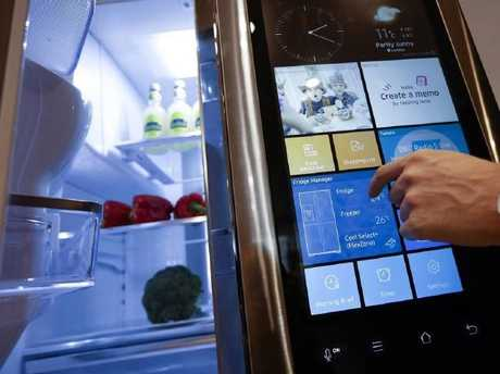 A Samsung fridge freezer in the smart-home section of a department store. Picture: Bloomberg
