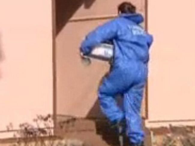 Forensic police enter the Oberon house after Joseph's parents claim the boy was injured tripping over dog leads. Picture: 9 NEWS.