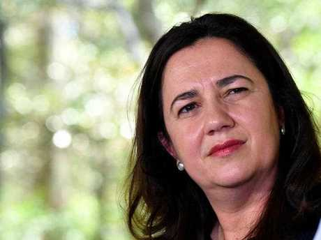 Queensland Premier Annastacia Palaszczuk is seen during a media conference at Daisy Hill Koala centre in Brisbane during the Queensland Election campaign on Saturday, November 4, 2017. Premier Palaszczuk has announced that if re-elected she will end broadscale tree clearing.