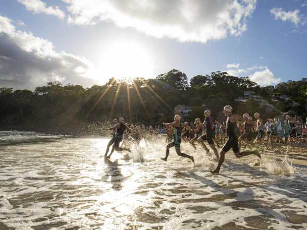 IN ACTION: More than 8000 athletes have hit the ground running for the 35th Noosa Triathlon.