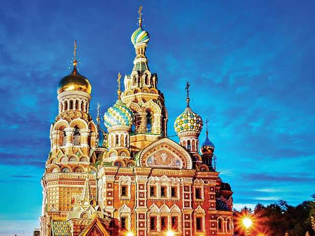 GRIM HISTORY: Church of the Saviour on Spilled Blood, where Alexander II was assassinated, in St Petersburg.