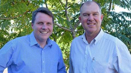 Dr Christian Rowan, (left) with MP for Gympie Tony Perrett.