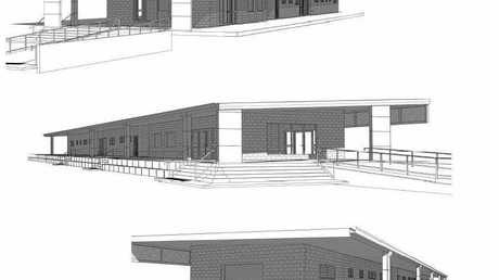 Architecture drawing of the amenitities building at Hartley Street Sport and Recreation Precinct in Emu Park