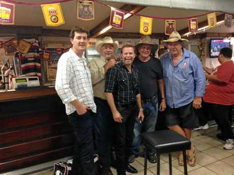 Greg Austen (second from left) pictured here with some country music royalty including Adam Harvey, Troy Cassar-Daley and boxer Fred Brophy.
