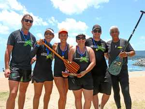 Paddlers take to the water in Outrigger Challenge