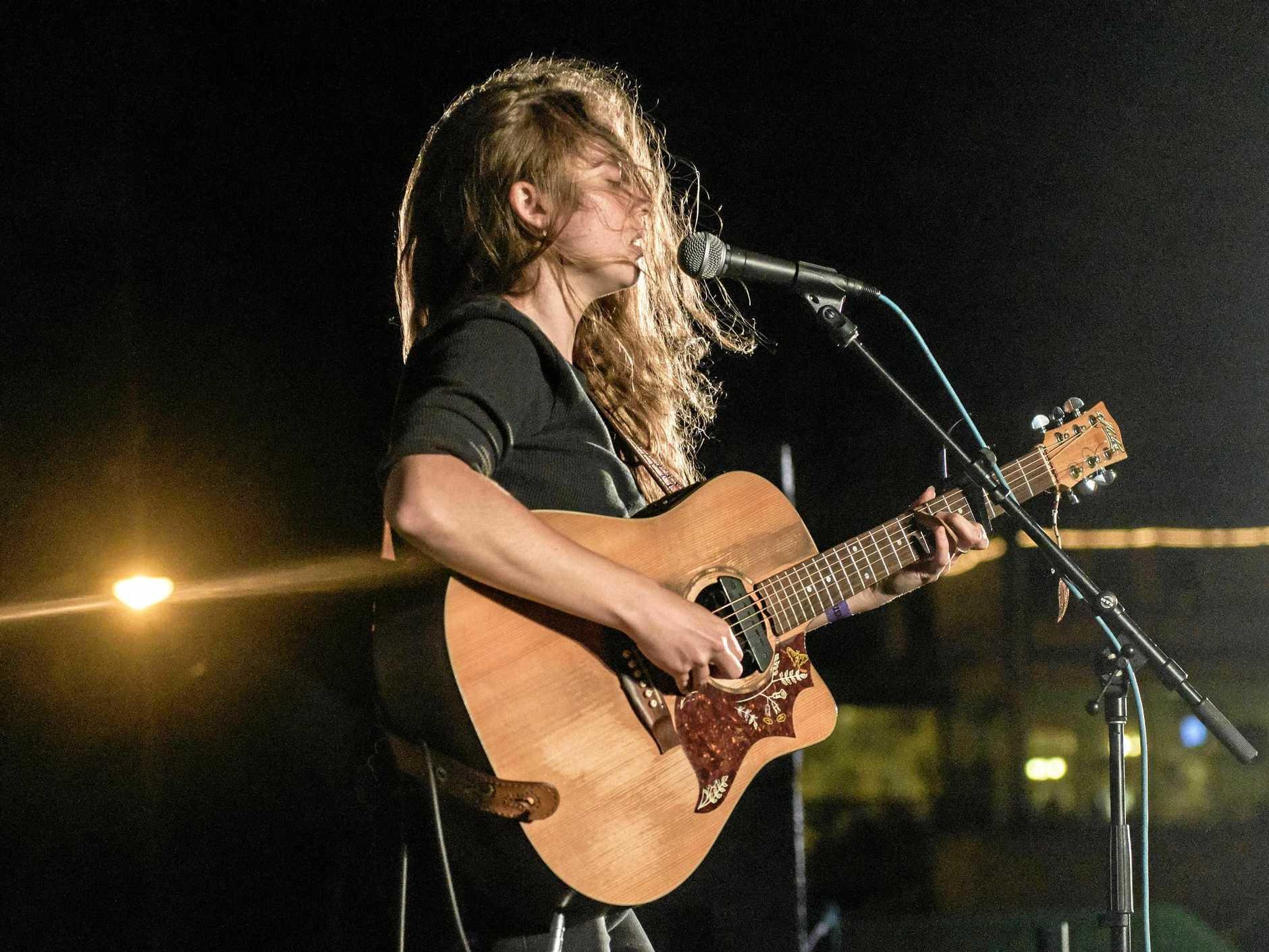 HOMEGROWN TALENT: Tullara Connors plays at the Jacaranda River Feast.