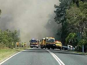 Residents prepare for evacuation as blaze threatens homes