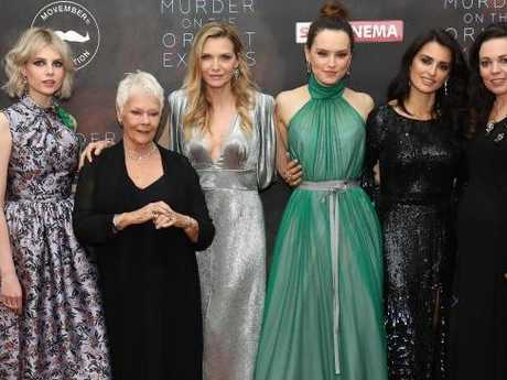 Lucy Boynton, Dame Judi Dench, Pfeiffer, Daisy Ridley, Penélope Cruz and Olivia Coleman at the World Premiere. Picture: Tim P. Whitby / Getty Images.