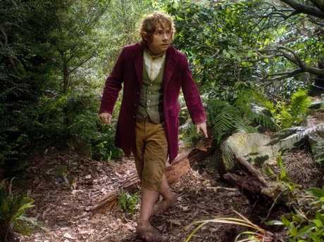 An undated handout photo obtained from Warner Bros on November 23, 2012 shows actor Martin Freeman as Bilbo Baggins. Picture: AFP.