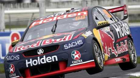 Jamie Whincup in action in Auckland on Sunday.