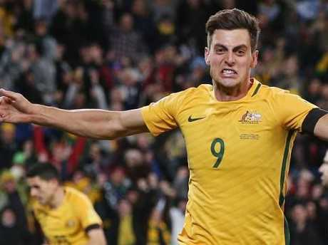 Socceroos striker Tomi Juric is one of nine Australian players on a yellow card.