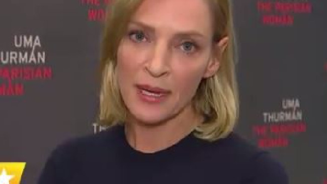 Uma Thurman's response to the Hollywood sexual assault scandals will give you chills. Picture: Twitter.