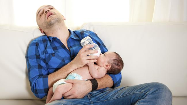 New dads need to see parenting as a partnership, not that they're just 'helping out'.