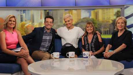 The Studio 10 host, pictured with panellists Joe Hildebrand, Jessica Rowe, Denise Drysdale and Ita Buttrose, is used to a live broadcast — just not on Saturday nights. 3.