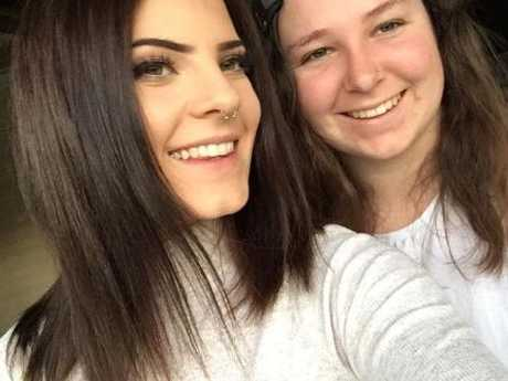 Shelby Holmes with Brittney Dwyer.