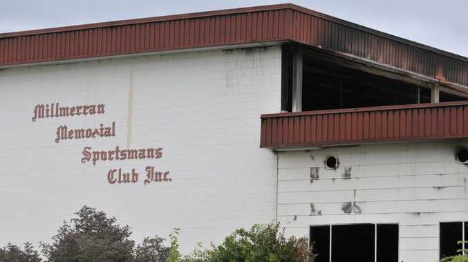 The Millmerran community have lost their sports club after the Millmerran Memorial Sportsmans Club burnt down, Monday, February 18, 2013. Photo Kevin Farmer / The Chronicle