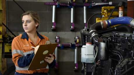 RIGHT JOB: Gemma Hartwig, 20, is a diesel fitter and has recently been named the Queensland Apprentice of the Year.