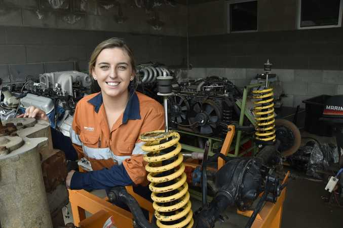 TAFE student, Gemma Hartwig, 20, is a diesel fitter and will be competing in a national competition later this month. November 2017