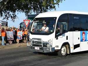 Pauline Hanson arrives in Maryborough