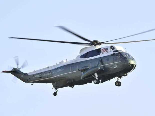 This photo shows a helicopter