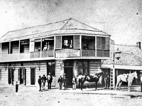 The Criterion Hotel circa 1873.   Photo Courtesy the State Library of Queensland.