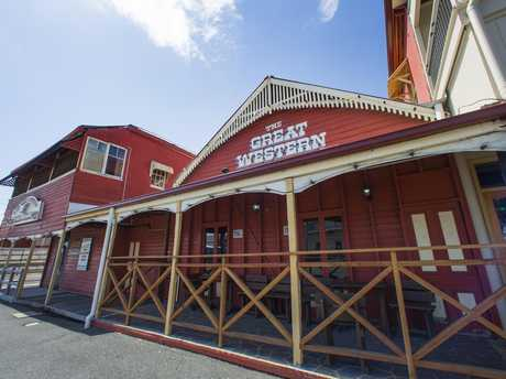 The Great Wester Hotel in Rockhampton, which holds live rodeo entertainment as well as claims of the best steakhouse in Queensland.