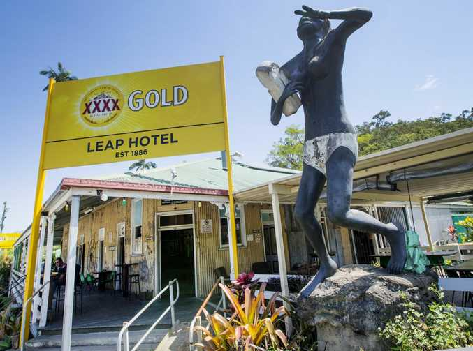 The Leap Hotel north of Mackay .