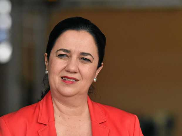 Queensland Premier Annastacia Palaszczuk is seen at the The Star Gold Coast Casino on the Gold Coast during the Queensland Election campaign on Sunday, November 5, 2017. Premier Palaszczuk revealed the design for the medals to be presented to the winning athletes at the Gold Coast Commonwealth Games. (AAP Image/Darren England) NO ARCHIVING