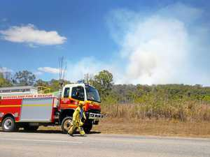 Fire-fighters work to tame blaze south of Mackay