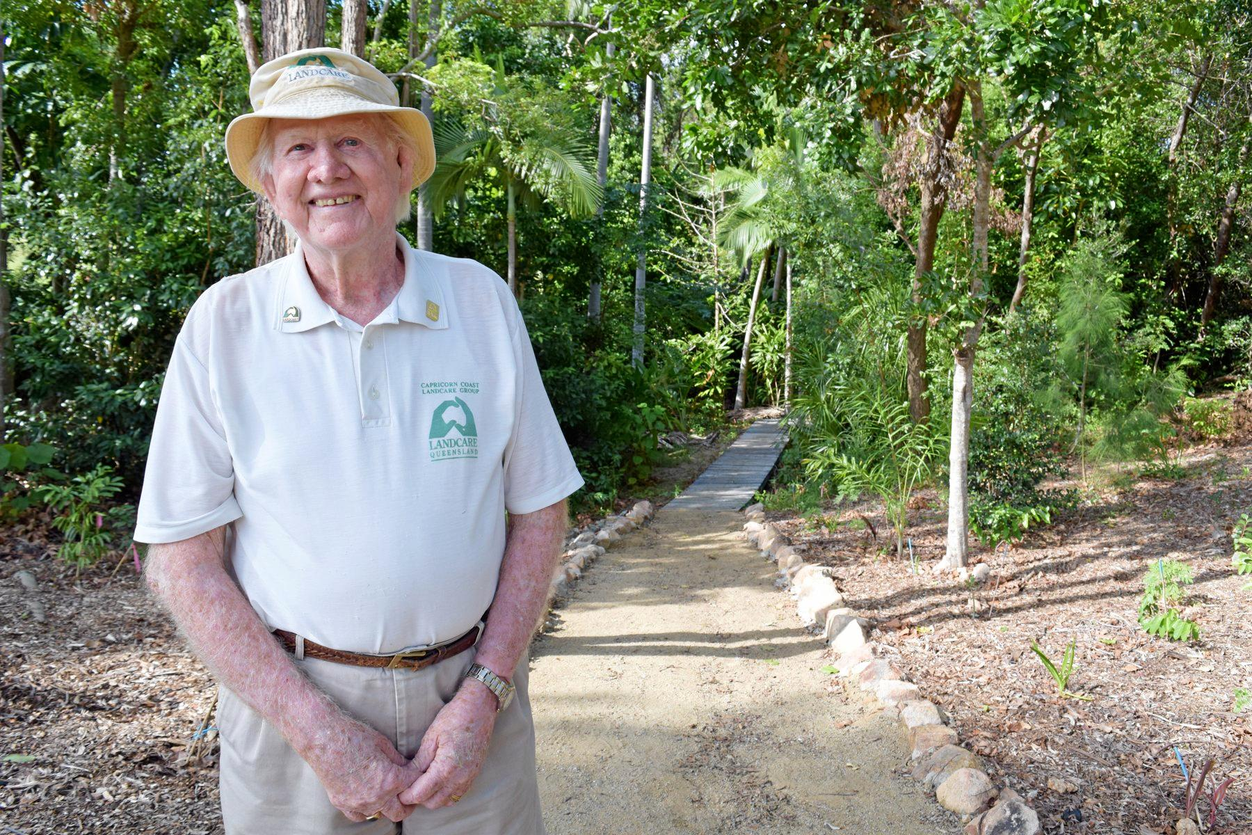 Capricorn Coast Land Care environmental warrior Alby Wooler passed away this year and a lush parkland is set to be named in his honour.