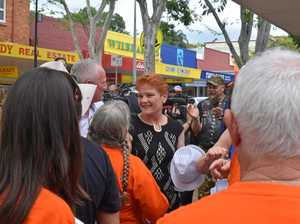 Pauline Hanson gets a rock star reception in Gympie