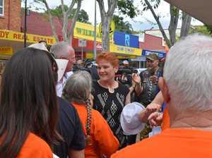 Pauline Hanson gets a rock star reception in Gympie