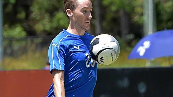 TALENT: Sunshine Coast Masters Football action.