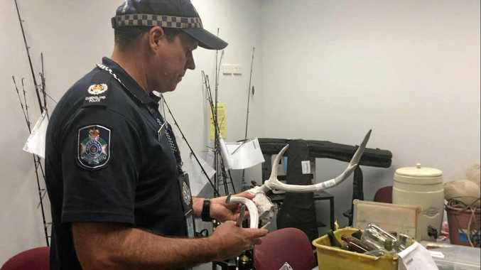 Mackay Police uncovered a haul of bizarre stolen goods in Bakers Creek.