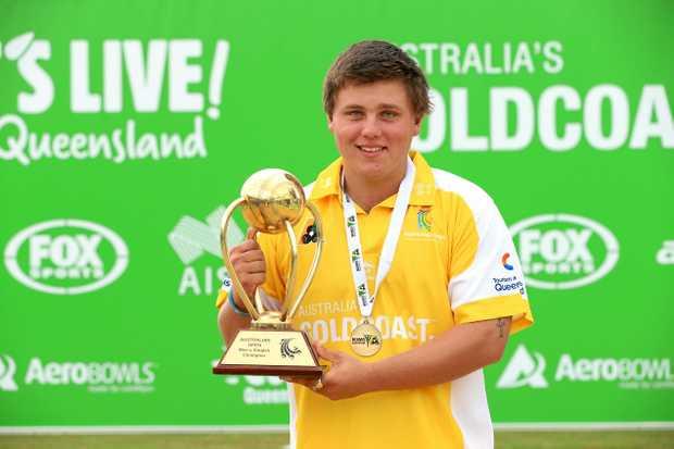 THE CHAMP: Australian representative Aaron Teys won the World Singles Champions of Champions event at Sydney.