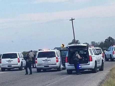 The scene near the church shooting.
