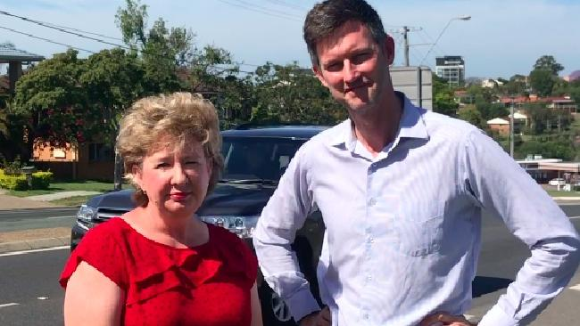 Mark Bailey with ALP candidate for Manfield Corrine McMillan.
