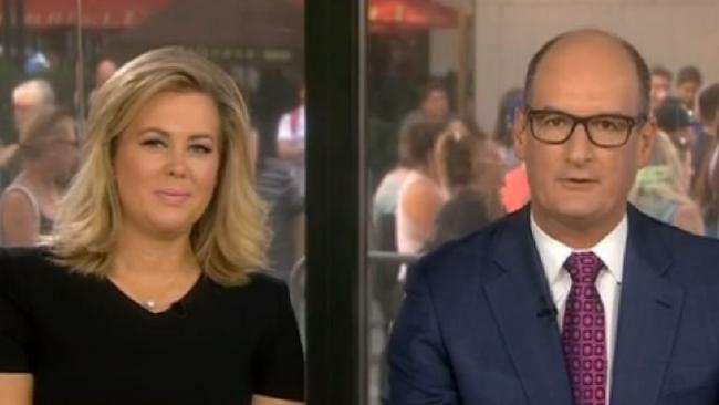 Samantha Armytage and David Koch are the co-hosts of Sunrise. Picture: Channel 7